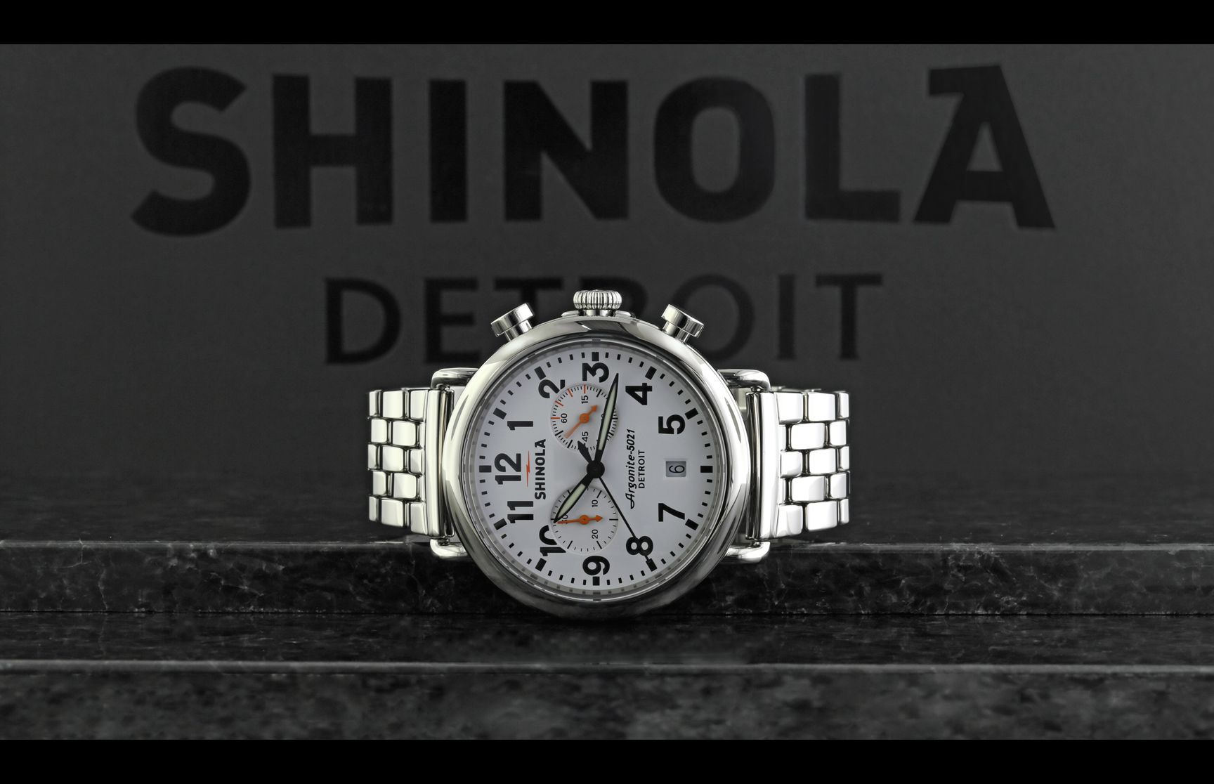Gents Runwell Chrono 41mm white Chronograph Shinola Watch