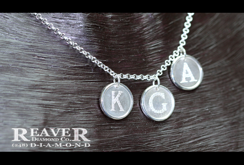Ladies 'Initial' Diamond Mothers Necklace