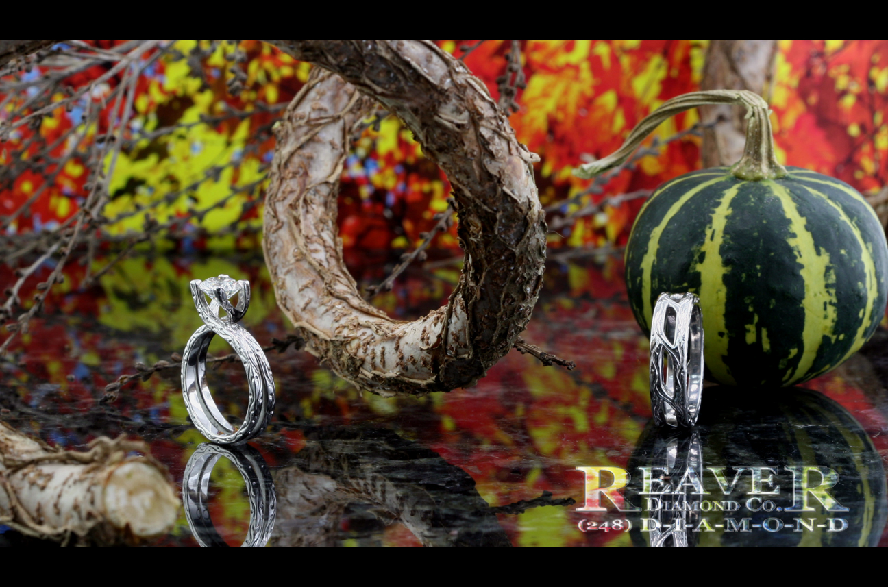 Mens & Ladies Plat 'Vine' Rings