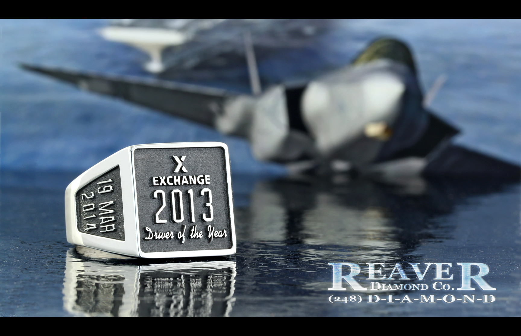 Corporate Ring - AAFES 2013 - Silver with Black Antiquing